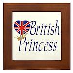 British Princess Framed Tile