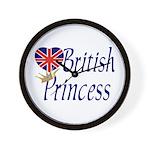 British Princess Wall Clock