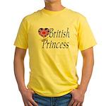 British Princess Yellow T-Shirt