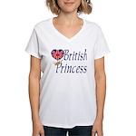 British Princess Women's V-Neck T-Shirt
