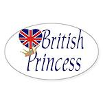 British Princess Oval Sticker