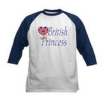 British Princess Kids Baseball Jersey