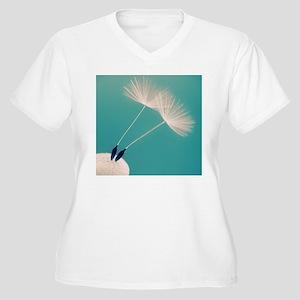 Detail of a dande Women's Plus Size V-Neck T-Shirt