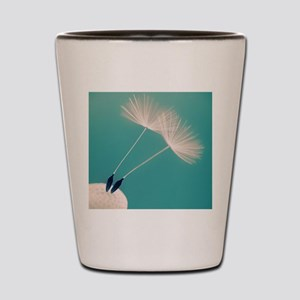 Detail of a dandelion flower with two s Shot Glass