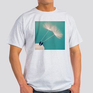 Detail of a dandelion flower with tw Light T-Shirt