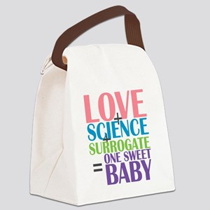 Love, Science,  a Surrogate Canvas Lunch Bag