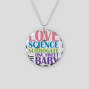 Love, Science,  a Surrogate Necklace Circle Charm