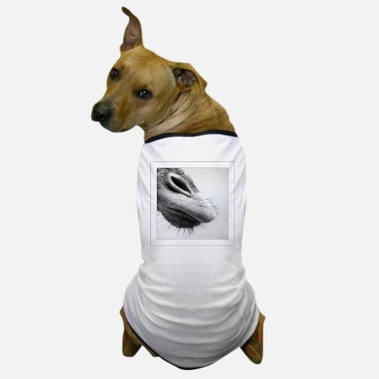 Giraffe nose, black and white, close u Dog T-Shirt