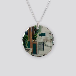 Italian quarter, San Francis Necklace Circle Charm