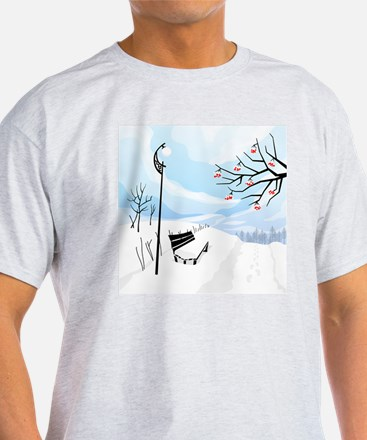 Illustration of a winter image of a  T-Shirt
