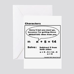 EQUATION SUBTRACT FROM BOTH S Greeting Cards (Pack