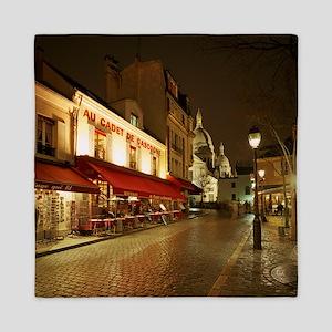 France, Paris, Montmartre Queen Duvet