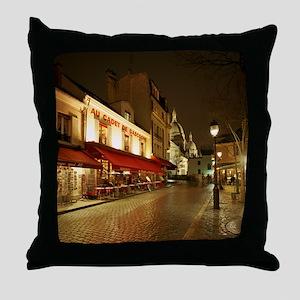 France, Paris, Montmartre Throw Pillow