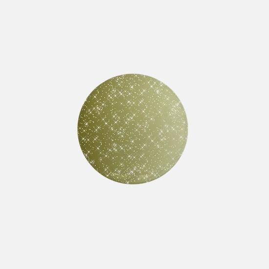 Sparkling Gold Mini Button