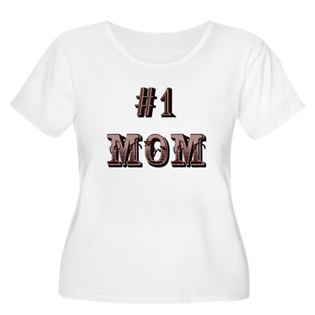 #1 Mom Women's Plus Size Scoop Neck T-Shirt