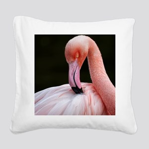 Greater Flamingo Square Canvas Pillow