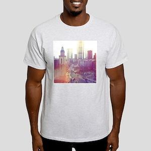 Frankfurt city downtown with church  Light T-Shirt