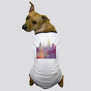 Frankfurt city downtown with church in Dog T-Shirt