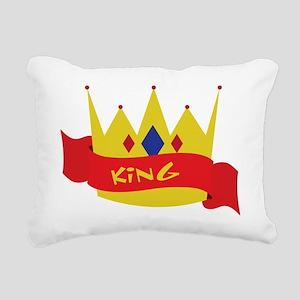 King Crown Ribbon Rectangular Canvas Pillow