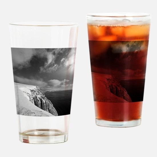 Looking along coast towards Blackga Drinking Glass