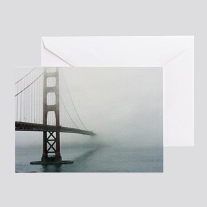 Golden gate bridge, San Francisco, C Greeting Card