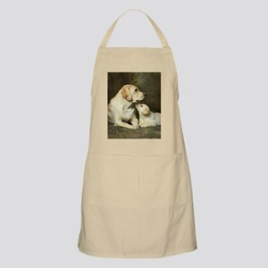 Labrador dog with her puppy Apron