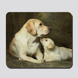 Labrador dog with her puppy Mousepad