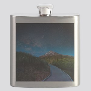 Mt. Ekmond at night with star light. Flask