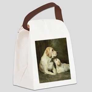 Labrador dog with her puppy Canvas Lunch Bag