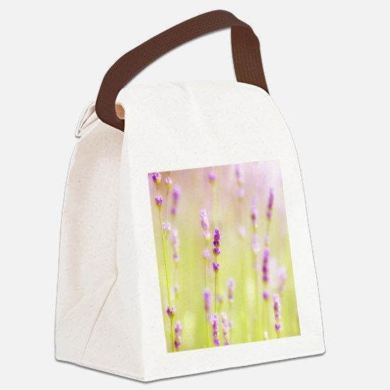 Lavender field. Canvas Lunch Bag