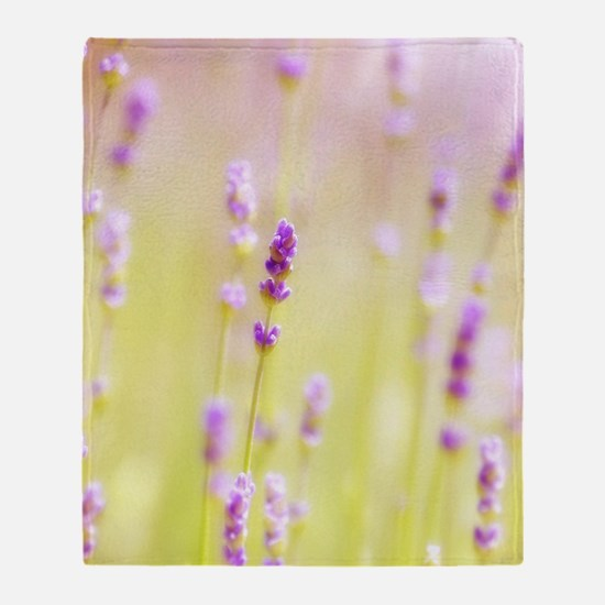 Lavender field. Throw Blanket