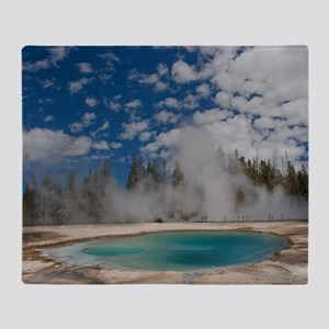 Hot spring in Midway Geyser Basin of Throw Blanket
