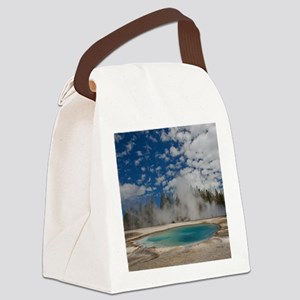 Hot spring in Midway Geyser Basin Canvas Lunch Bag