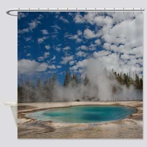 Hot spring in Midway Geyser Basin o Shower Curtain
