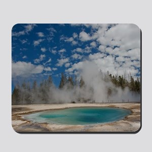Hot spring in Midway Geyser Basin of Yel Mousepad