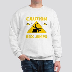 CAUTION BOX JUMPS - BLACK Sweatshirt