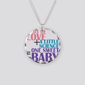 IVF Baby Necklace Circle Charm