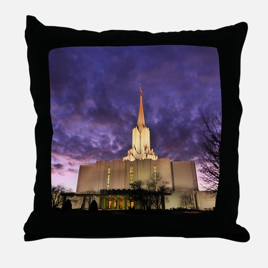 Jordan River Utah LDS (Mormon) Temple Throw Pillow