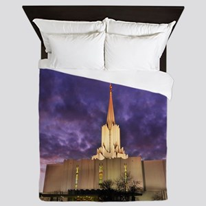Jordan River Utah LDS (Mormon) Temple, Queen Duvet
