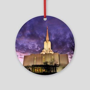 Jordan River Utah LDS (Mormon) Temp Round Ornament