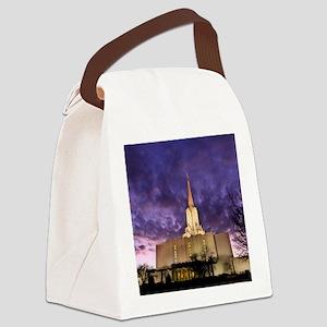 Jordan River Utah LDS (Mormon) Te Canvas Lunch Bag