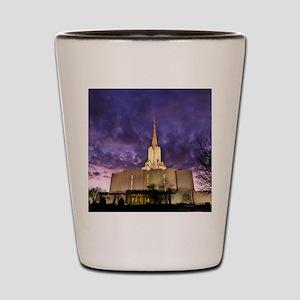 Jordan River Utah LDS (Mormon) Temple,  Shot Glass