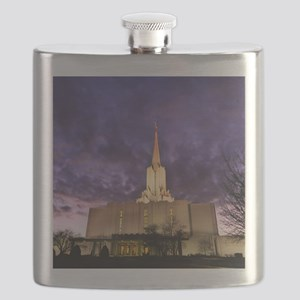 Jordan River Utah LDS (Mormon) Temple, US. Flask