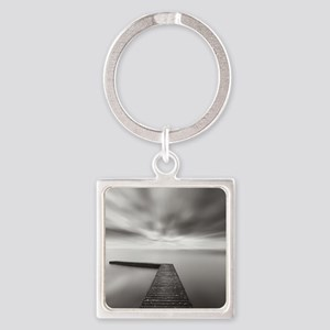 L shaped jetty extending towards t Square Keychain
