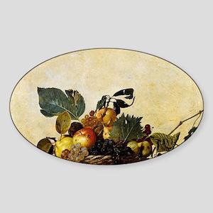 Caravaggios Basket of Fruit Sticker (Oval)