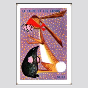 The Mole and Rabbit Fable French Matchbox L Banner