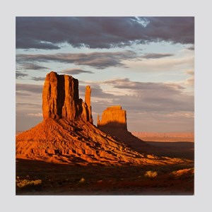 Mittens of Monument Valley at sunset, Tile Coaster