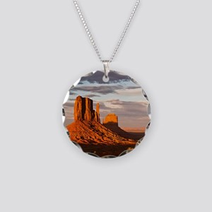 Mittens of Monument Valley a Necklace Circle Charm