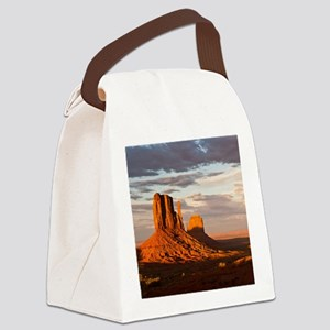 Mittens of Monument Valley at sun Canvas Lunch Bag