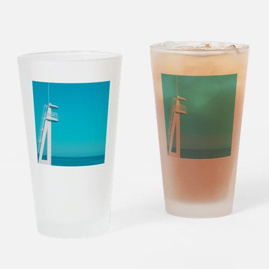 Playa beach, blue color. Drinking Glass